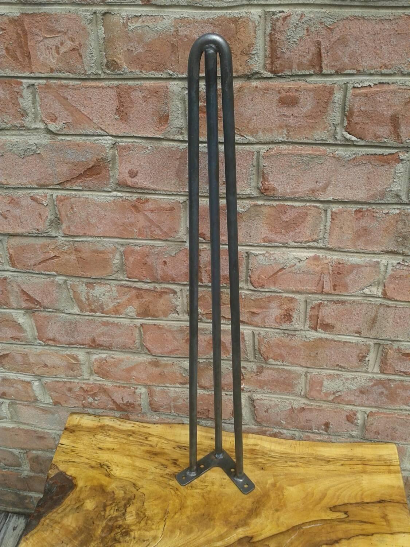 Raw 40 Inch 3 Rod Style Steel Hairpin Legs