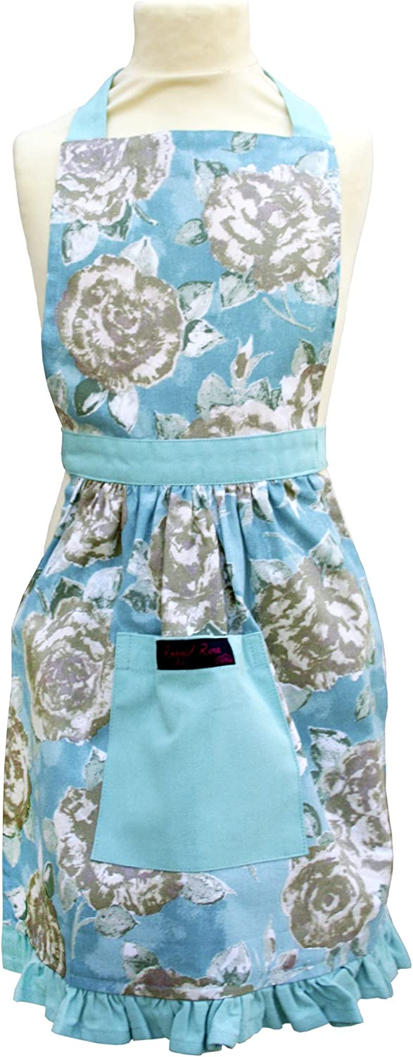 Ragged Rose Betsy Girls Cotton Apron - Duck Egg Blue
