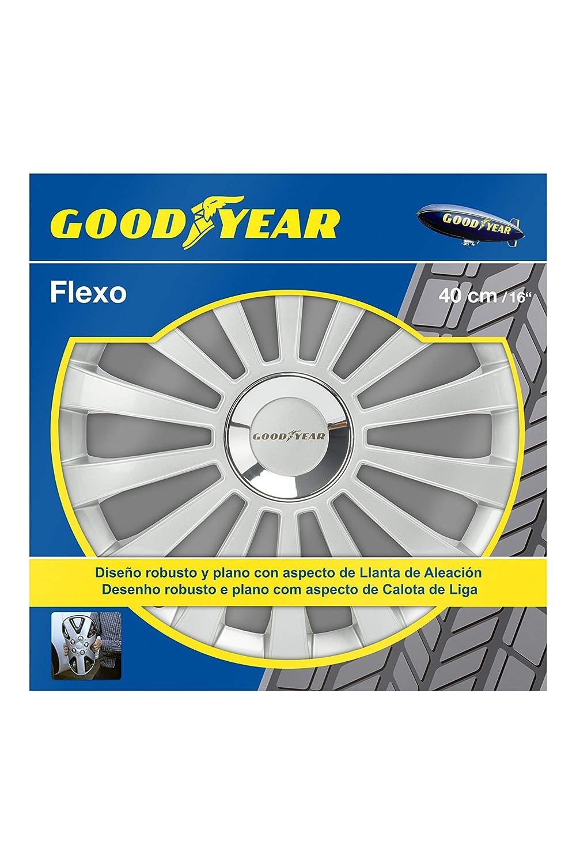 Good Year GOD9031 - Set de 4 Tapacubos Flexo 30, Plata, 16 Pulgadas: Amazon.es: Coche y moto