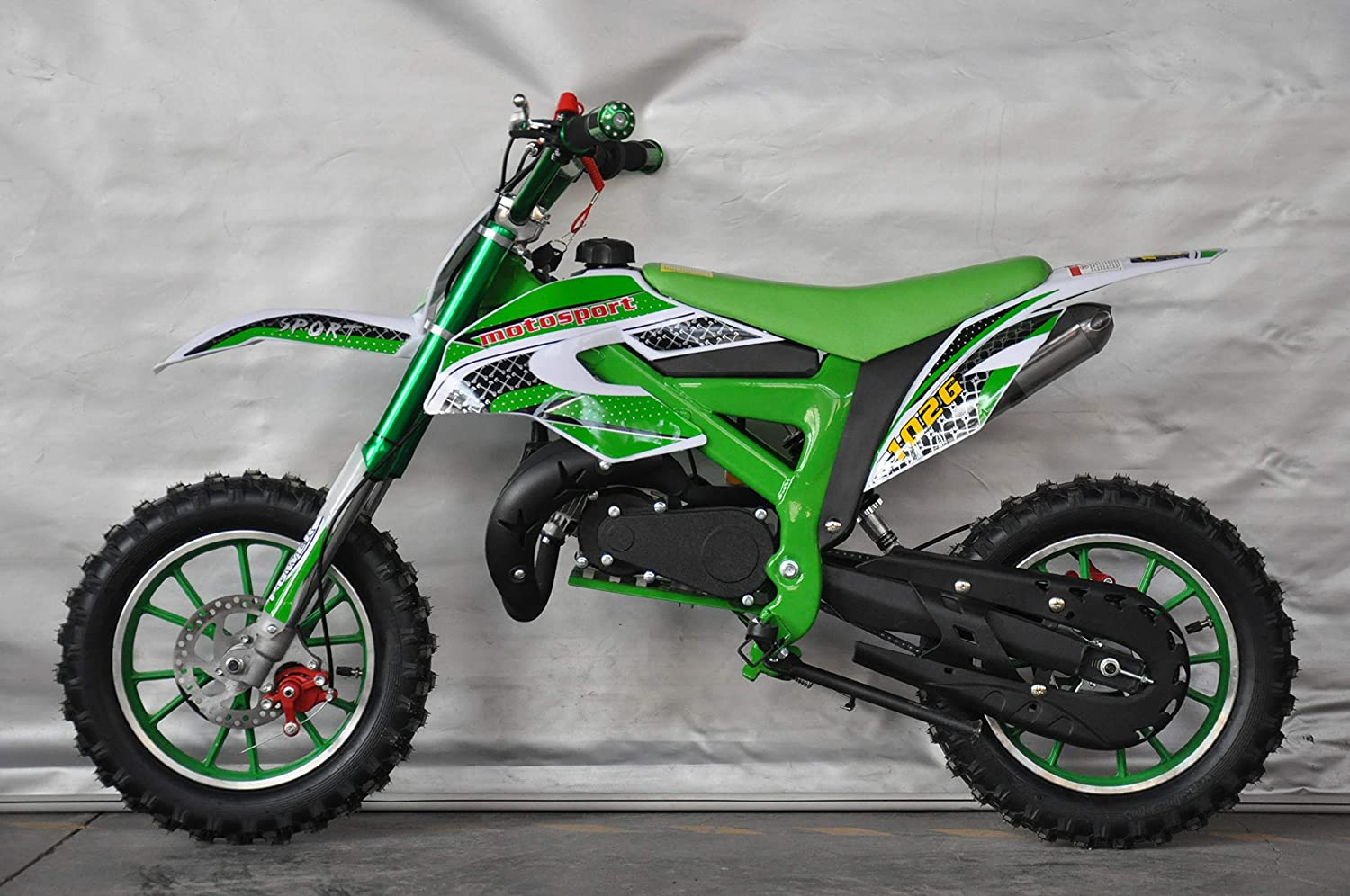 Mini PITBIKE con motore da 49/ cc a 2/ tempi XTM Team Cross Moto di Mini Cross 112x35x58 cm Verde Mini Dirt Bike