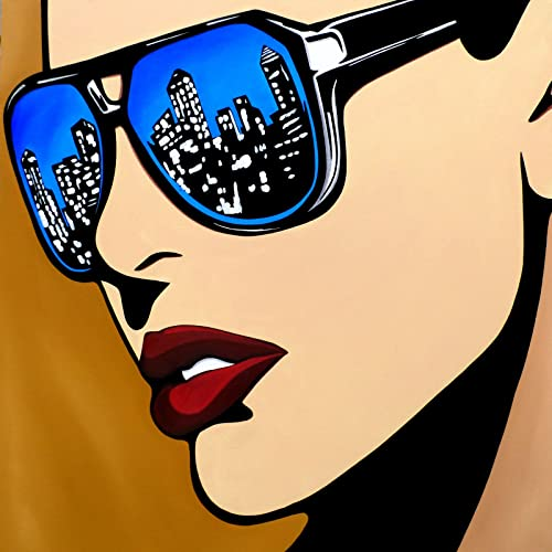 Amazon.com: Urban Vision - Original Abstract Modern pop wall Art ...