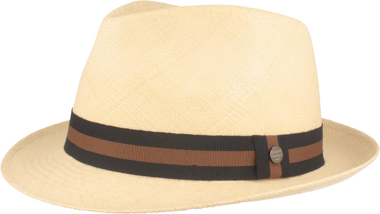 Original Sombrero Panamá   Sombrero de Paja Hecho a Mano en Ecuador   Sombrero de Verano - 100% Paja - Refuerzo de Silicona contra deformaciones.