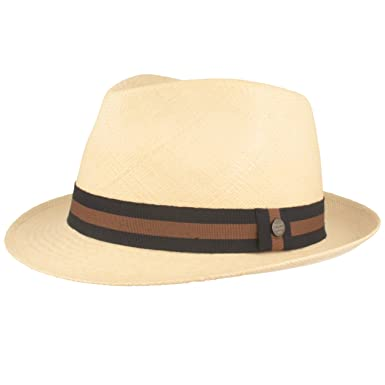 a3c869a1152dd8 ORIGINAL Panama-Hut | Stroh-Hut | Sommer-Hut aus Ecuador – Schmaler Trilby  - Handgeflochten, UV-Schutz, Bruchschutz: Amazon.de: Bekleidung
