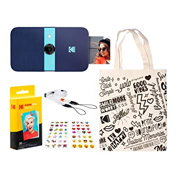 KODAK Smile Impresora Digital instantánea (Azul) Kit de Viaje ...
