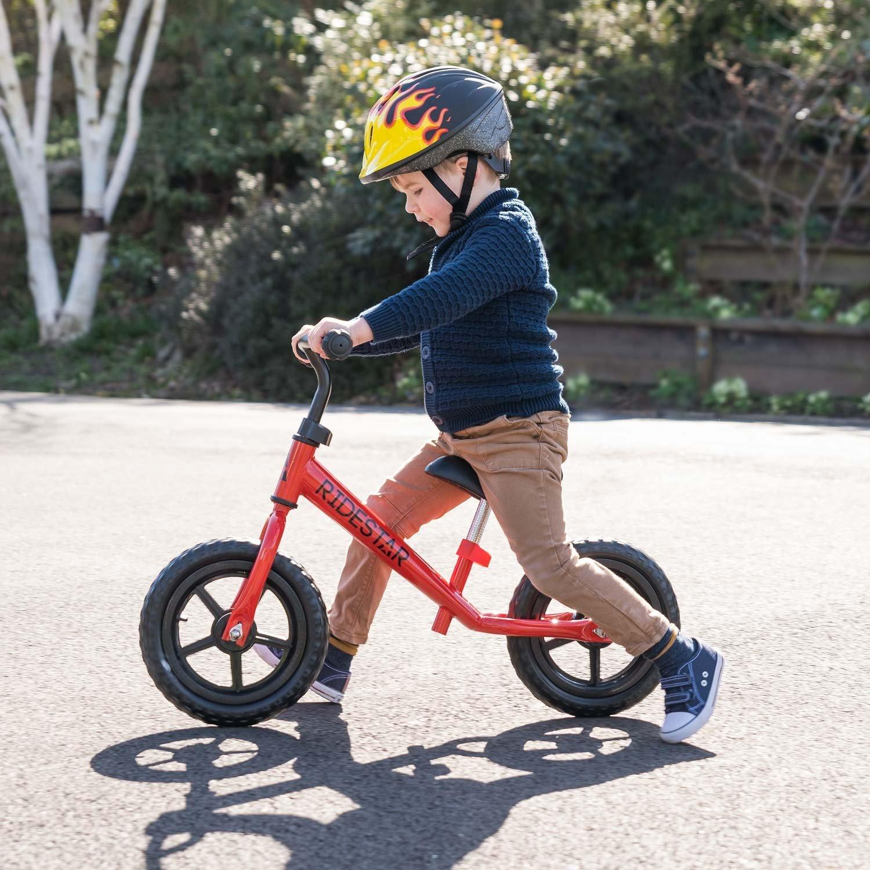 Childrens Kids Balance Bike Metal Boys Girls Running Walking Training Bicycle