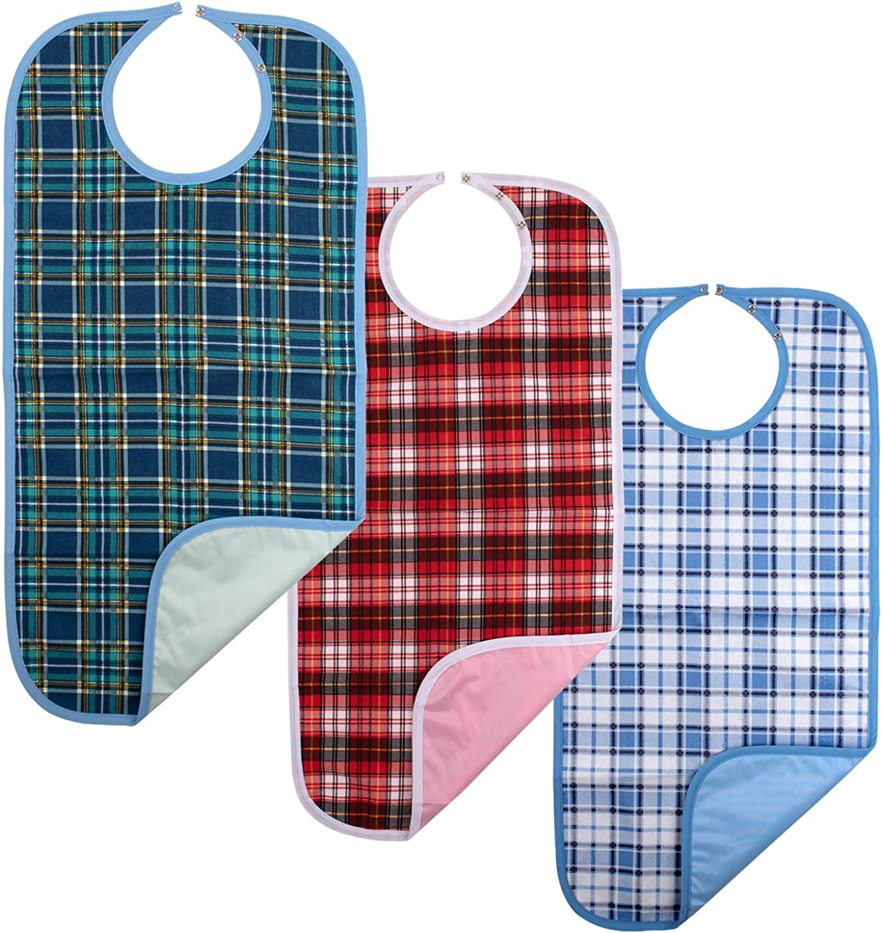 Adult Bib Clothing Protector,(3 Pack,18