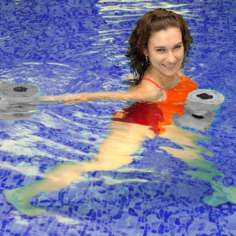 juego de 2 para ejercicios de resistencia en piscina goma EVA Aolvo equipo para entrenamiento fitness mejora y deportes de piscina para mujeres//hombres Mancuernas de aer/óbicos para agua yoga
