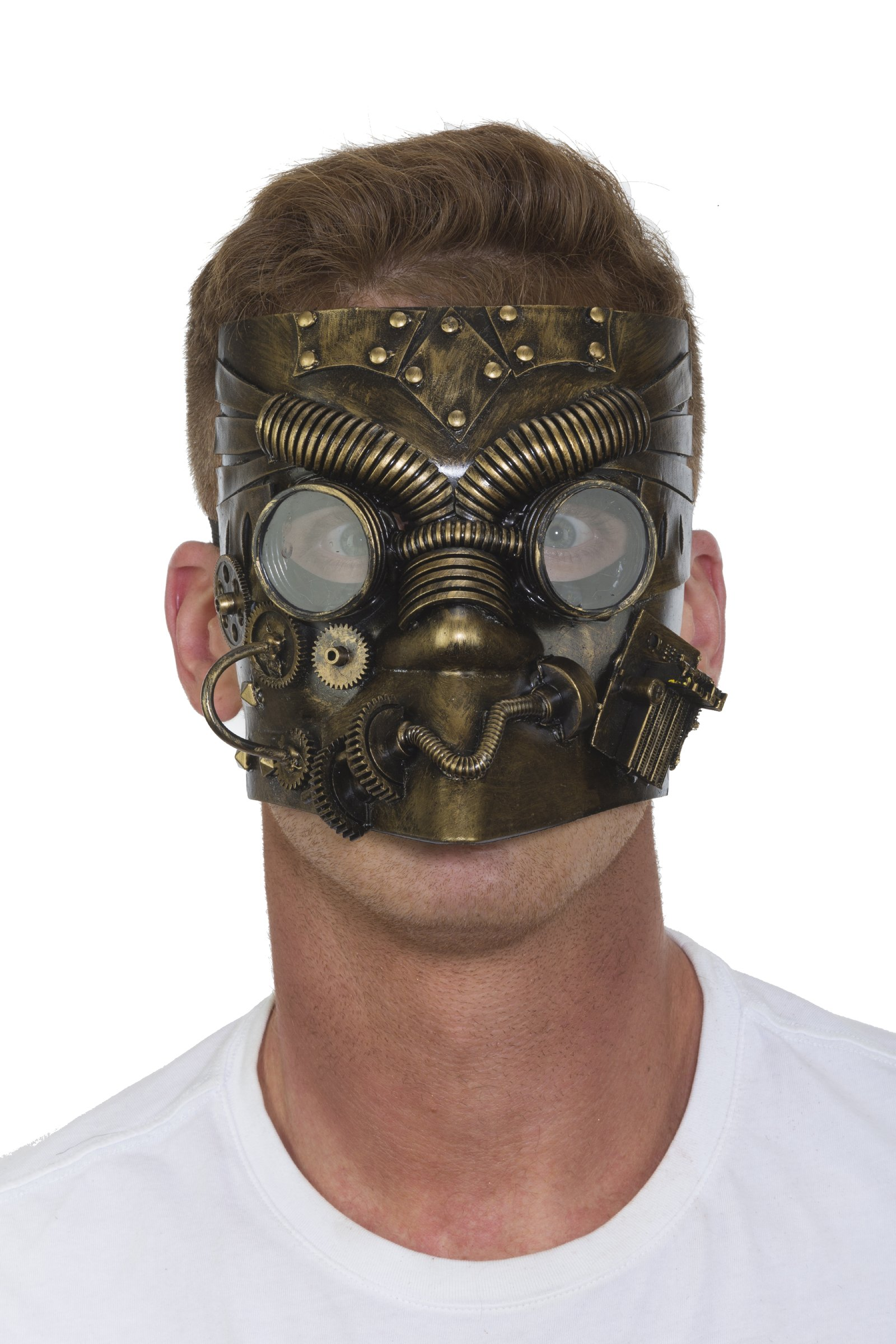 27894 Steampunk Bronze Full Mask Industrial