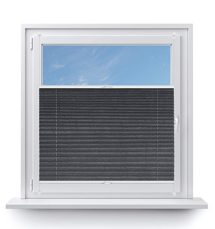 Rollo Studio Moderner Crushed Optik, Fenster Plissee auf auf auf Maß, ohne Bohren mit Neu Klemmfix Smartfix Jalousie System, Viele Größen und Farben, für alle Fenster, Fensterrollos, Weiß B07MZZ2CGB Plissees 678a93