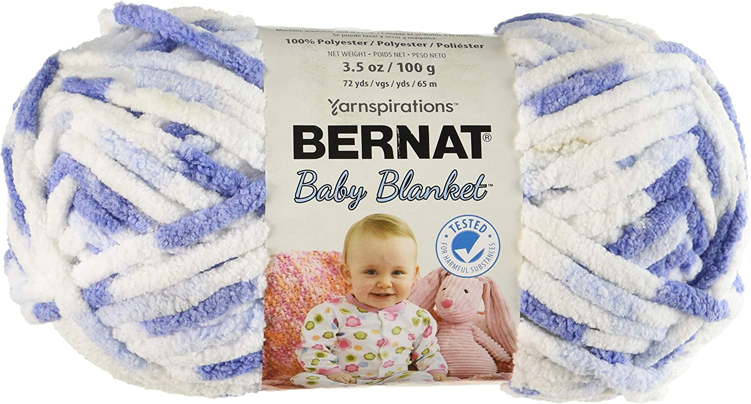12//Pk Baby Denim 12 Pack Bernat 97634 Blanket Yarn-12//Pk-Baby
