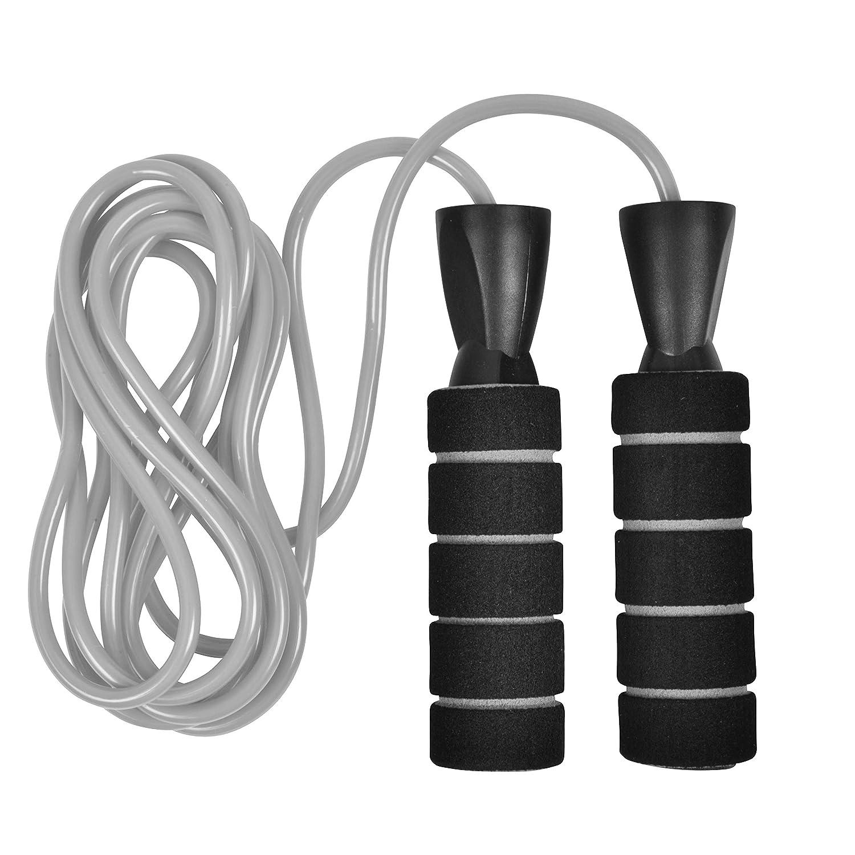 FLO360 Fitness ウェイトジャンプロープ(1/4ポンド) エクササイズ ワークアウト  グレー B07KGJQSVN