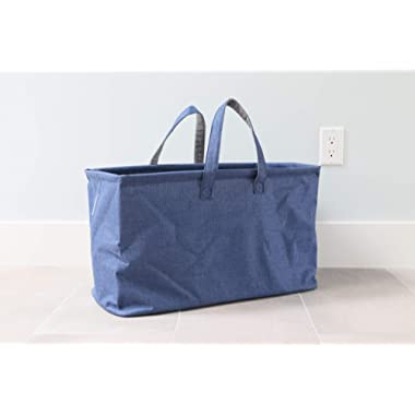 In This Space Twill Boat Storage and Laundry Tote (Navy Blue)