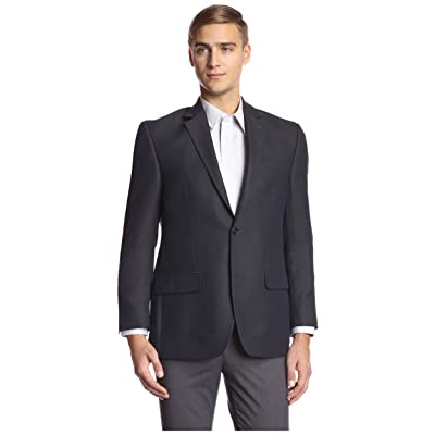 Andrew Fezza Men's 2 Button Tic Sportcoat, Navy, 40R at Men's Clothing store