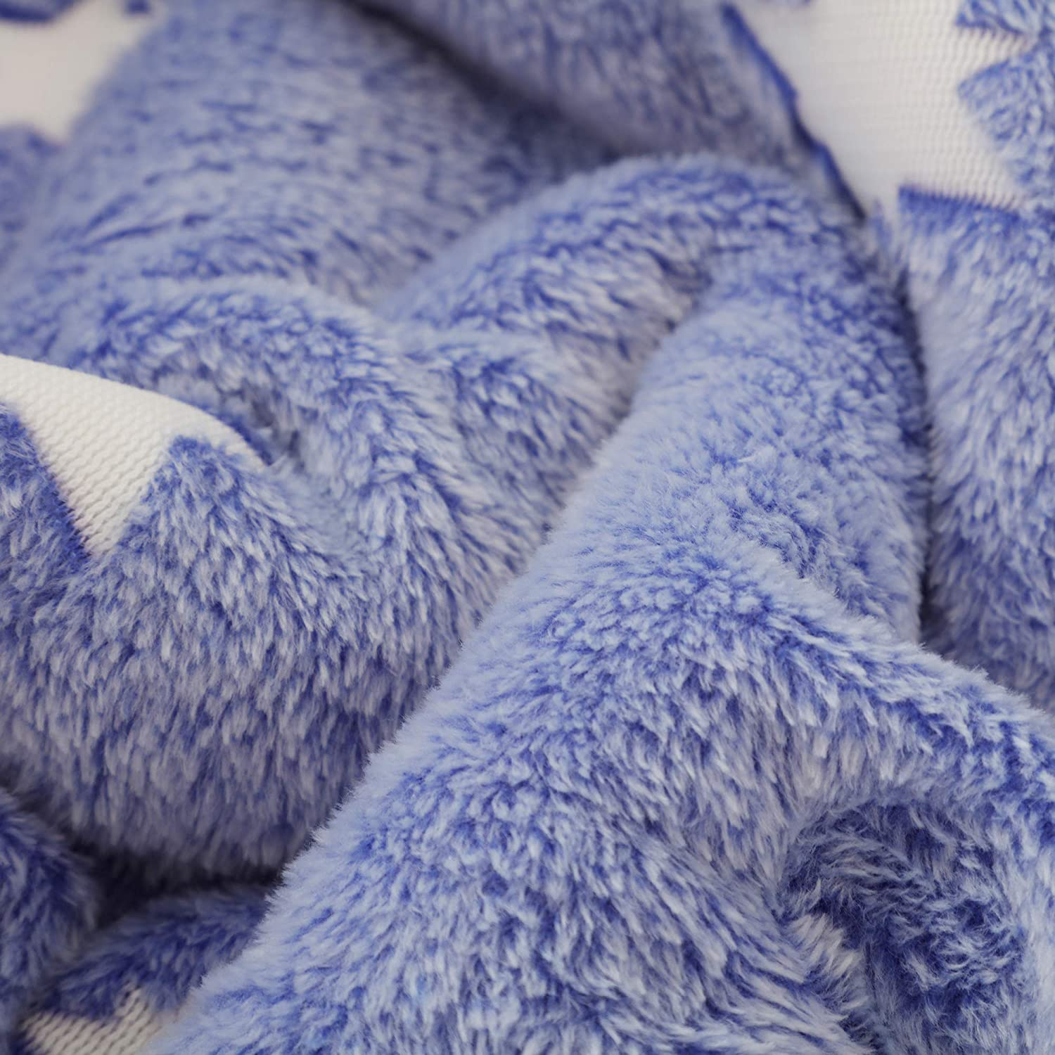 Blue 50 x 60 Inches SOCHOW Glow in The Dark Sherpa Fleece Throw Blanket Stars Pattern Double-Sided Super Soft Luxurious Plush Blanket for Kids