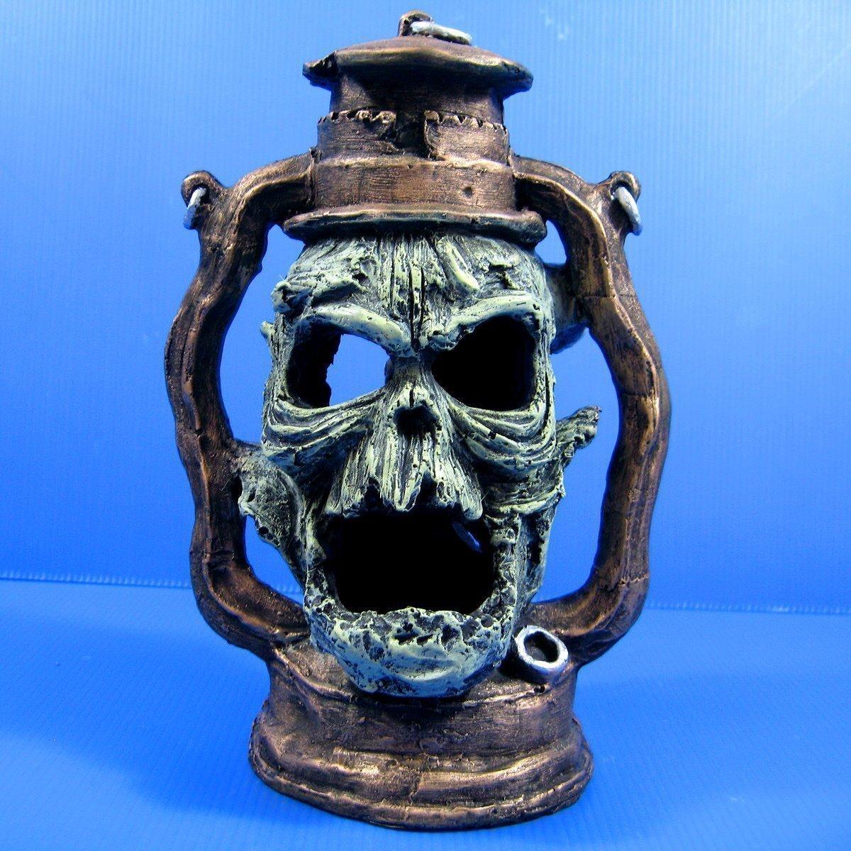 Devil Oil Lamp Skull cave 6.7x4.9x9.8 Aquarium Ornament Decor aquatic Bonsai KY1102 SU KY1102 SU????