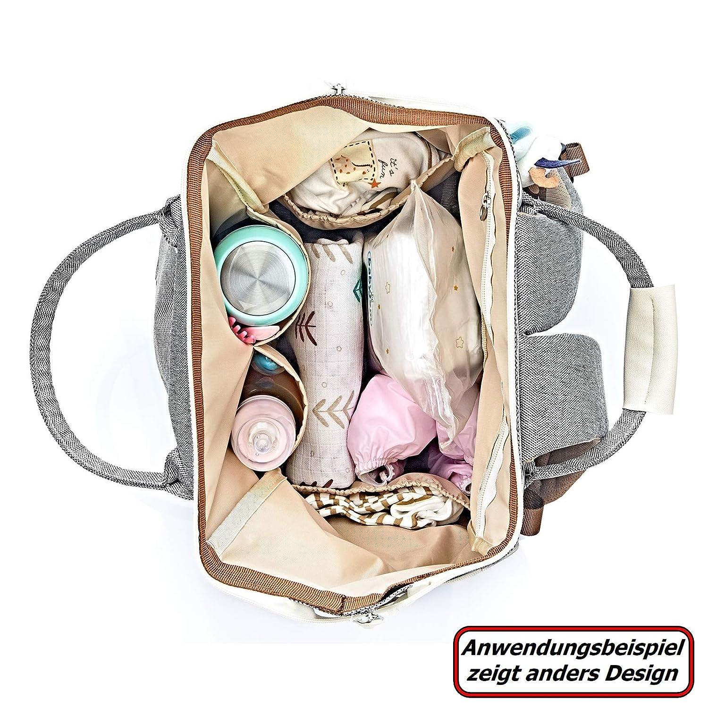 Babyjem Wickeltasche Handtasche mit Schultergurt Care Bag braun 1115681