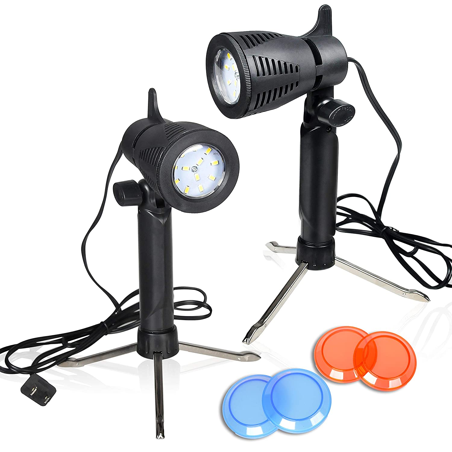 Emart Photography LED Continuous Light Lamp 5500K Portable Camera Photo Lighting for Table Top Studio - 2 Sets Emartinc