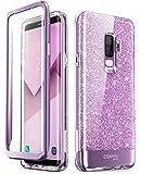 i-Blason Samsung Galaxy S9 Plus Case, [Built-in Screen Protector] [Cosmo] Full-Body Glitter Clear Bumper Case for Galaxy…