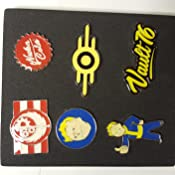 Fallout Fallout 76 Set of 6 Metal Pin Badges Collectors (Pi601678Fal) Llavero, 16 cm, Multicolor (Multicolour)
