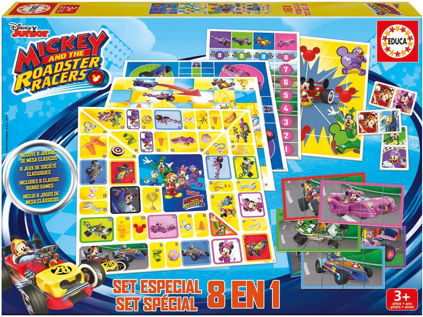 Educa- Mickey and The Roadster Racers Set Especial 8 Juegos, a Partir de 4 años (17225): Amazon.es: Juguetes y juegos