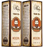 Captain Thug Medieval Beard Oil Restores Moisture, Softens And Reduces Beard Itch for All Lengths Of Facial Hair, 2 Pack
