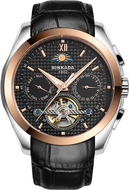 BINKADA自動機械ホワイトダイヤルメンズ腕時計# 7033l01 – 1 B01DZMFFMM