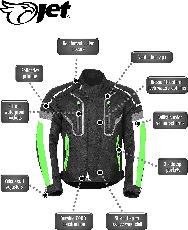 JET Chaqueta Moto Hombre Textil Impermeable con Protecciones Alto Rendimiento DAYTONA EU 46-48 , Azul S