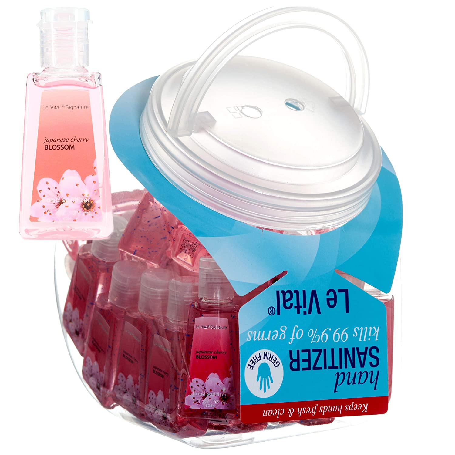 5 Mini Individual Hand Sanitizer Bottles. Perfect Size for Baby Shower Favors, Wedding Receptions Gifts, Baptism Goody Bags.1 floz Each. (Try Them All (5 scents, one of each)) Le Vital
