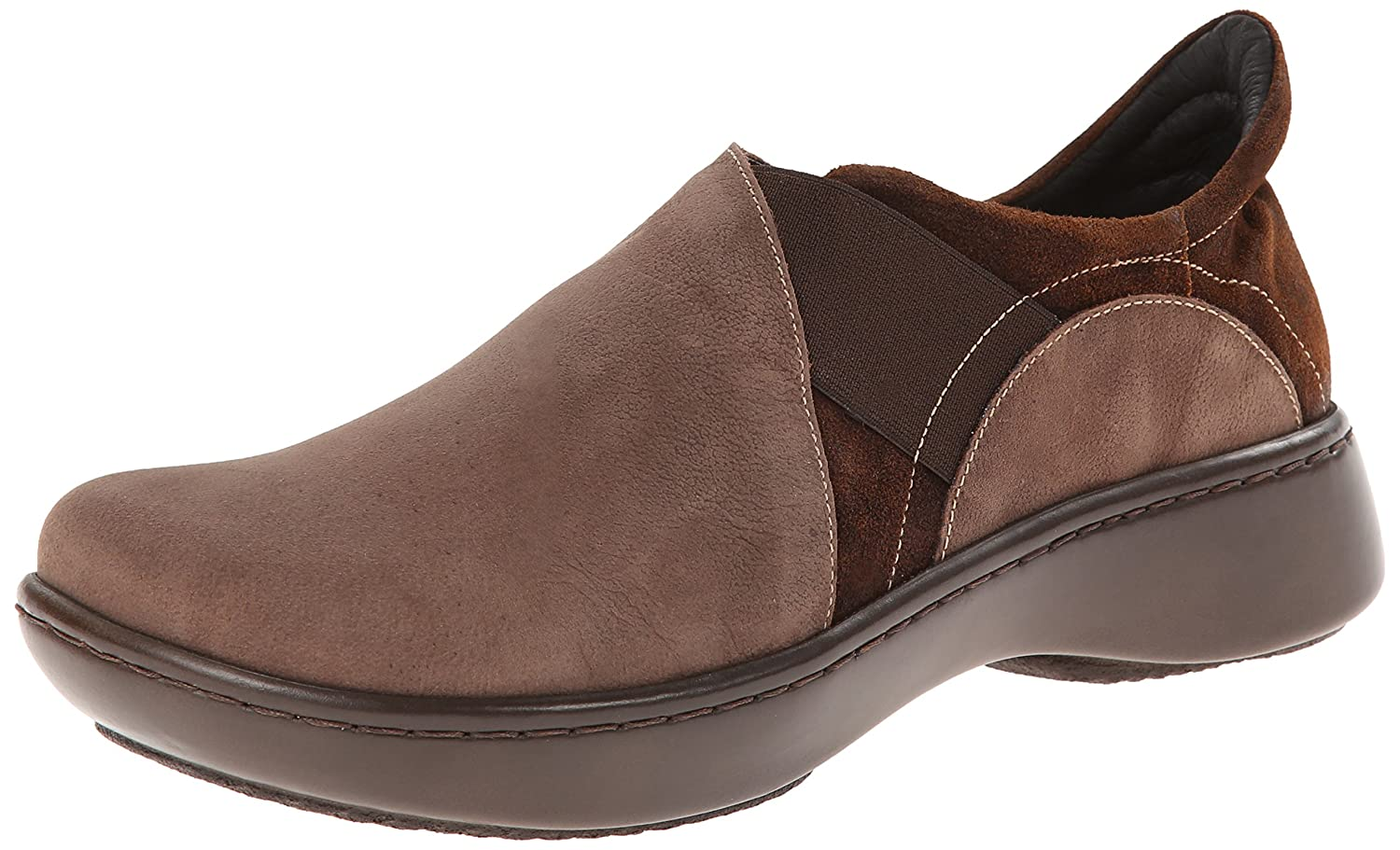 NAOT Women's Atlantic Flat B00IFQWXF6 35 EU/4.5-5 M US|Carob Brown Leather/Seal Brown Suede