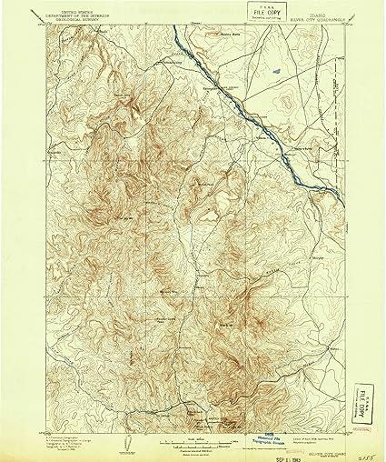 silver city idaho map Amazon Com Yellowmaps Silver City Id Topo Map 1 125000 Scale 30 silver city idaho map