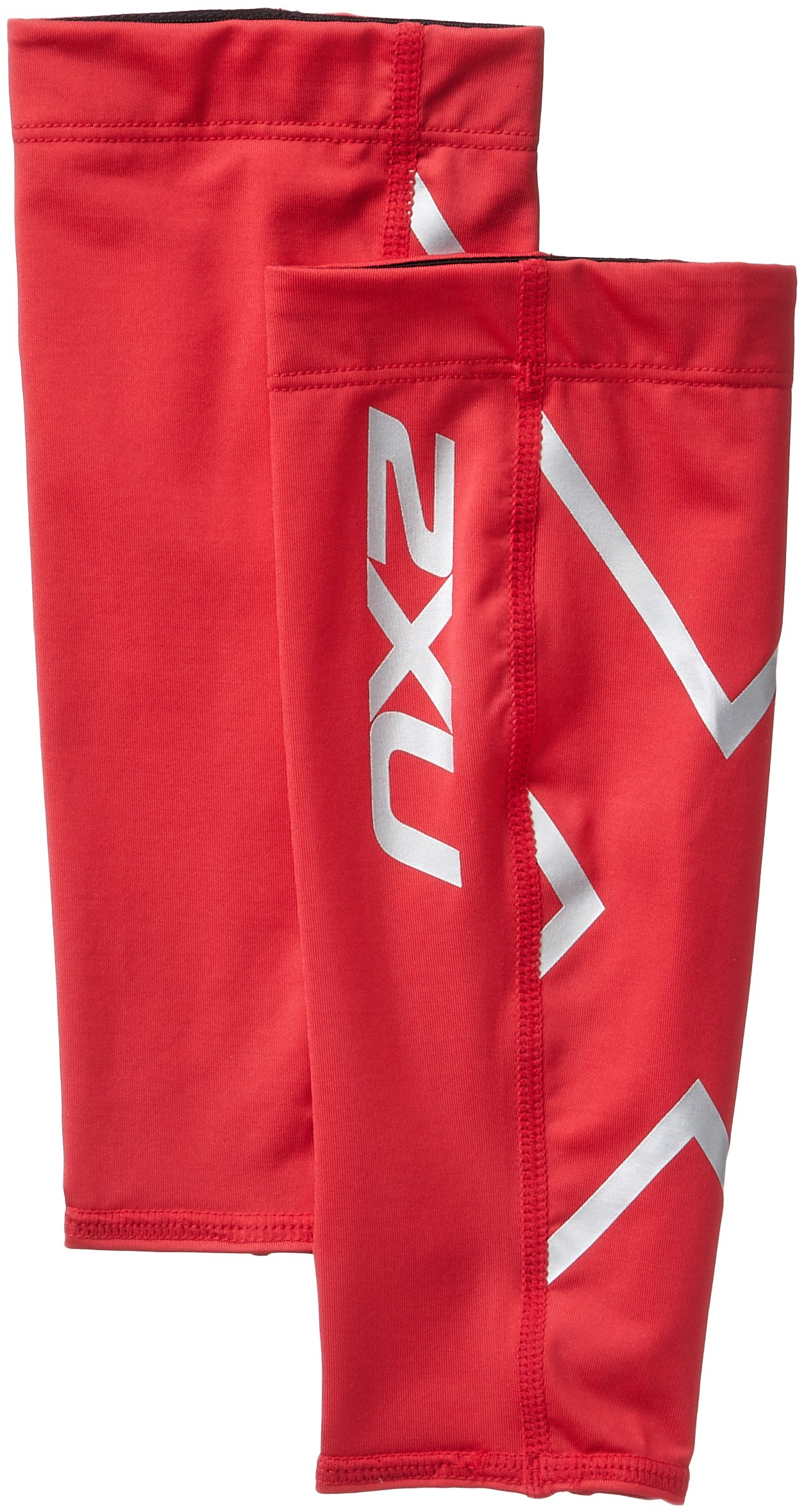 2XU Compression Calf Guards, Red/Red, Small by 2XU