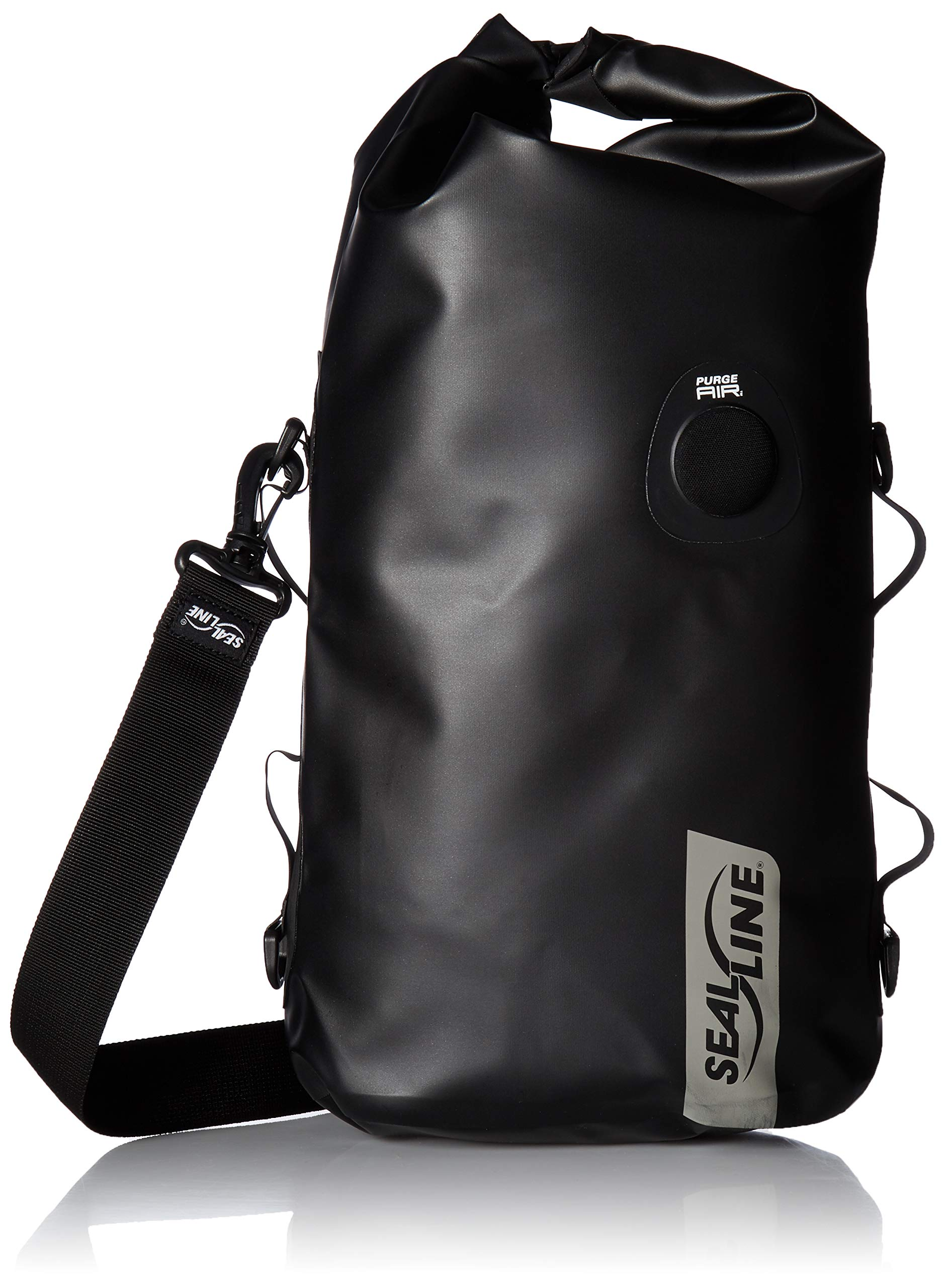 SealLine Discovery Deck Waterproof Dry Bag with PurgeAir, Black, 20-Liter
