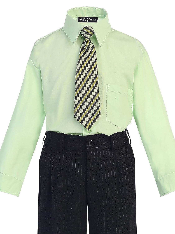 Bello Giovane Boys Dress Shirt with Tie Set Size 2T-20