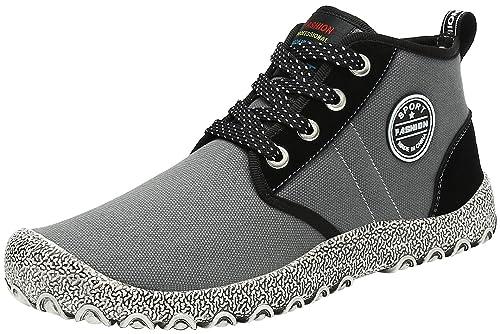 KOUDYEN Zapatillas de Deporte Hombre Mujer Zapatos Casuales Cordones Botines Aire Libre