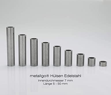 Casquillos de acero inoxidable M8 de Metallgo, 7 mm de ...