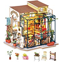 Rolife DIY Miniature Dollhouse Kit Diorama Greenhouse Gifts for Adults(Emily's Flower Shop)