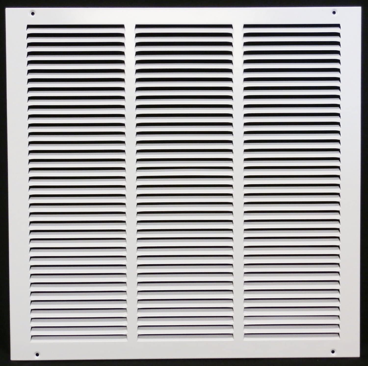 Sidewall and Ceiling 4 x 4 Return Air Grille HVAC Vent Duct Cover Diffuser - White Outer Dimensions: 5.75w X 5.75h