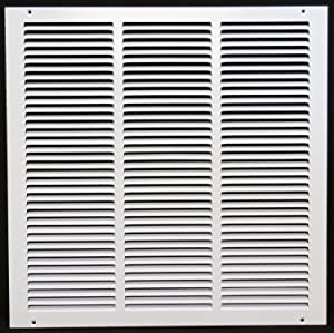 "16"" x 22"" Return Air Grille - Sidewall and Ceiling - HVAC Vent Duct Cover Diffuser - [White] [Outer Dimensions: 17.75w X 23.75""h]"