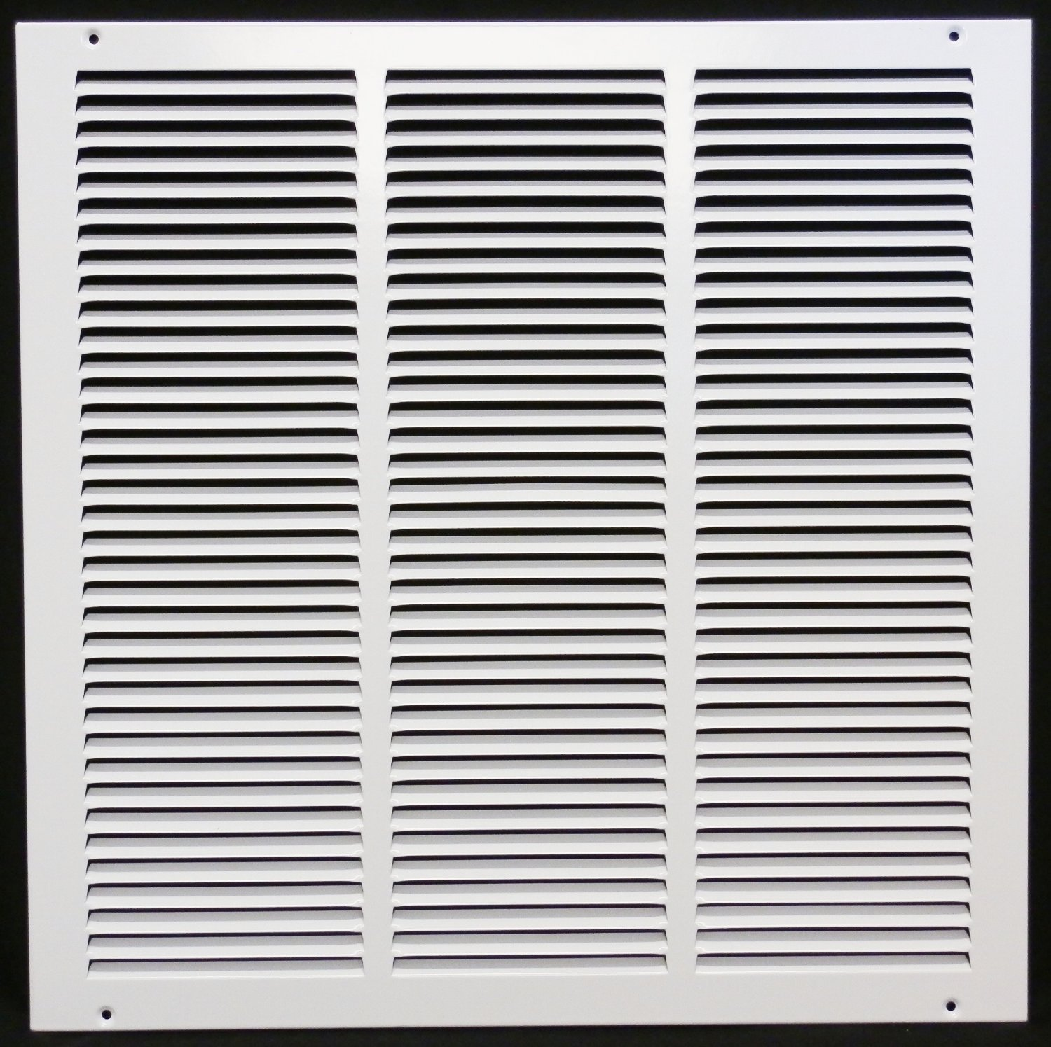18''w X 18''h Steel Return Air Grilles - Sidewall and Cieling - HVAC DUCT COVER - White [Outer Dimensions: 19.75''w X 19.75''h]