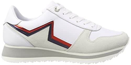 Amazon.com | Tommy Hilfiger Womens Tommy Star Retro Runner Low-Top Sneakers | Fashion Sneakers