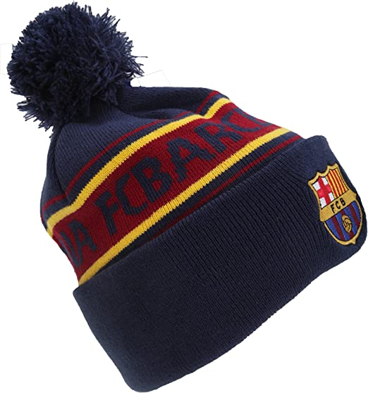 Gorra de invierno con escudo oficial del FC Barcelona
