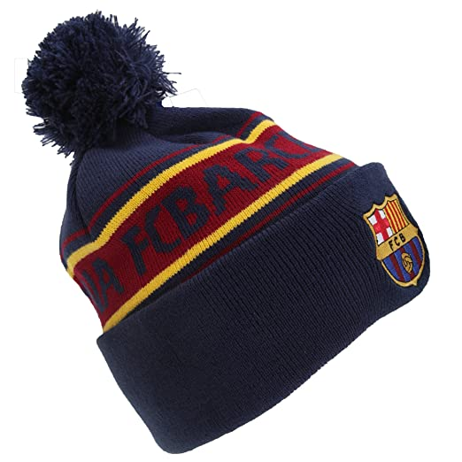 af259738a31 Amazon.com   F.C. Barcelona Barcelona Text Cuff Knitted Hat