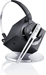 Sennheiser OfficeRunner Convertible Wireless Office Headset with Microphone - DECT 6.0 (Classic Silver)