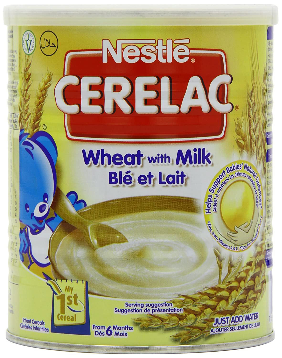 Nestle Cerelac Stage 1 From 6 Months Wheat with Milk 400 g (Pack of 4) DIMBL