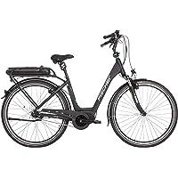 """FISCHER E-Bike City ECU 1860, Schwarz, 28"""", RH 44 cm, Mittelmotor 48 V/557 Wh, Shimano Nexus Schaltung, LCD-Display inkl. Navi-App, 99% fahrfertig vormontiert"""