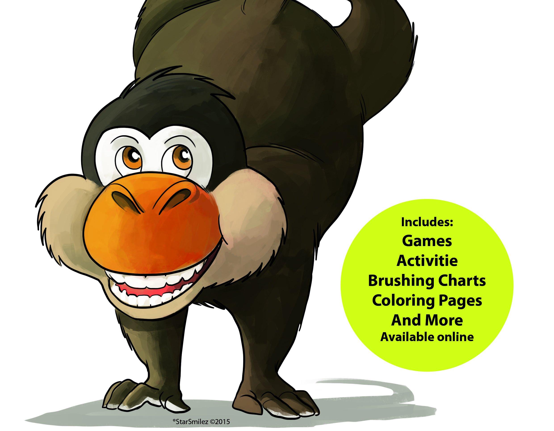 Oral Health Presentation Puppet Mojo Monkey Educational Plush