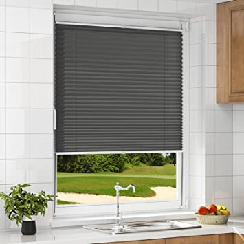 Plisseerollo Klemmfix Plissee ohne Bohren Jalousie für Fenster Tür Sonnenschutz