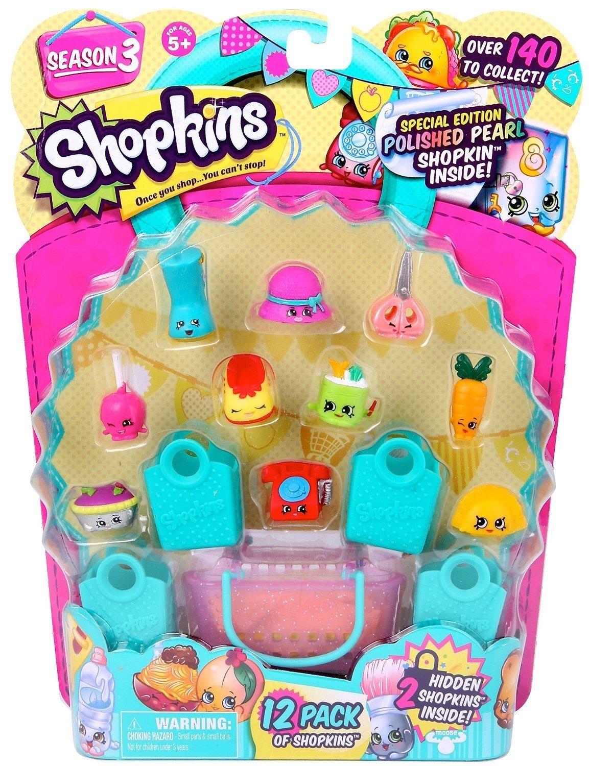 Shopkins Season 3 (12-Pack) - Characters May Vary (Discontinued by manufacturer) by Shopkins