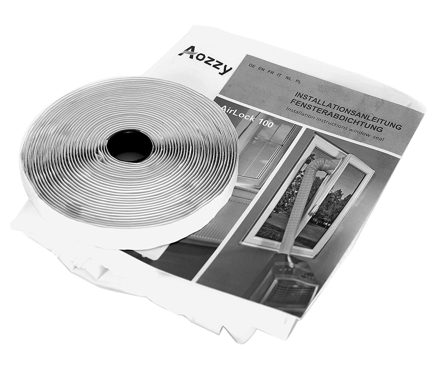 Aozzy Portable Air Conditioner window kit AirLock Window Seal for Mobile Air-Conditioning tumble dryer Hot Air Stop 400cm