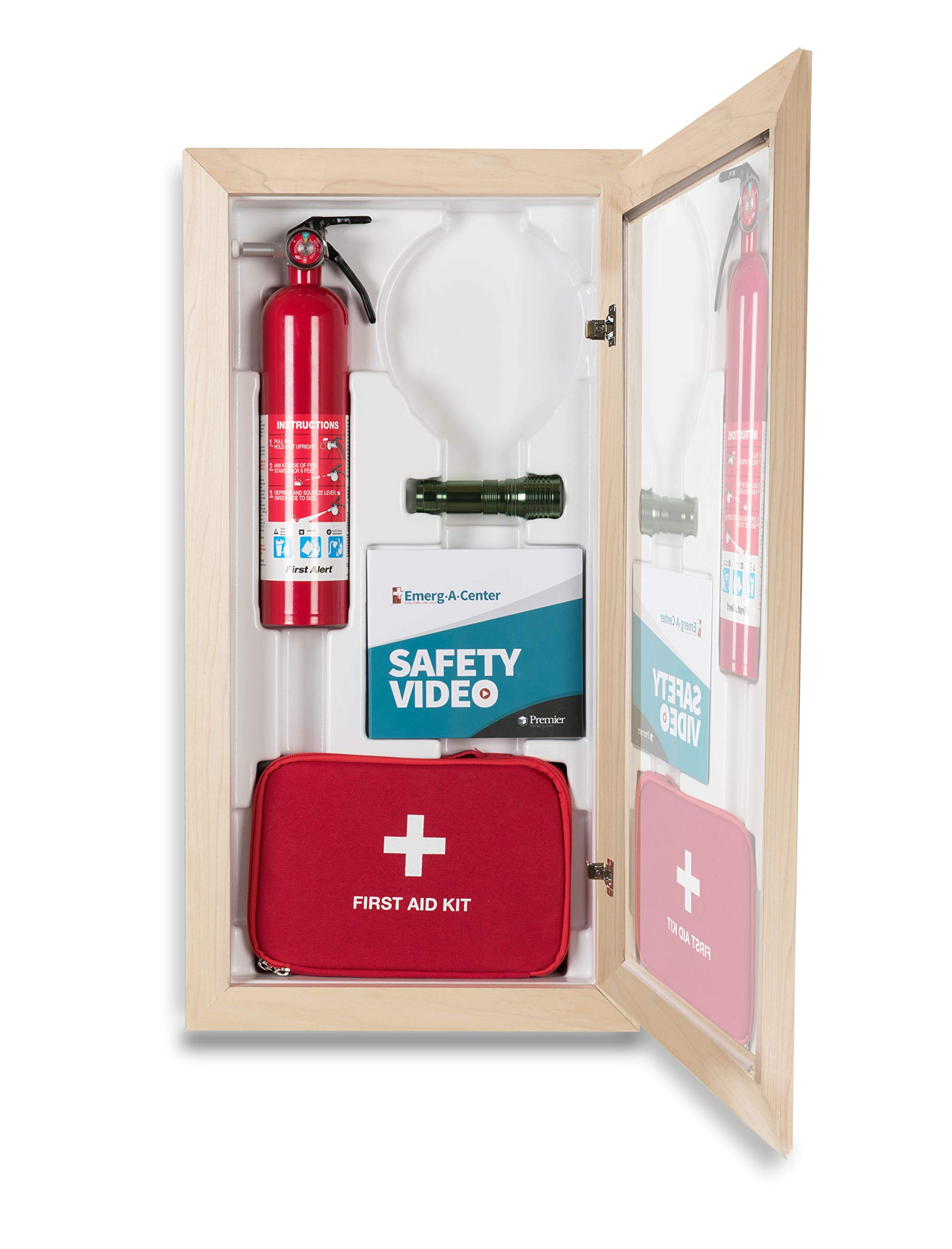 Emerg-A-Center HeartSine Cabinet, Block Trim, Plexiglass Door